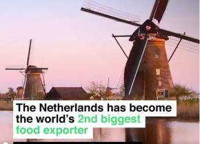 Netherlands is the world s 2nd biggest food exporter